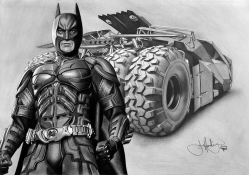 Batman Drawing by Toozies