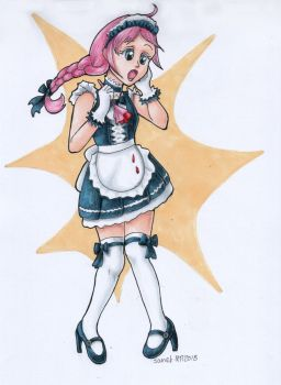 Laura OC challenge - Maid outfit by andpie