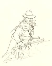 Hero of the snow - pencil by DocRedfield