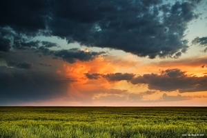 Storm Clouds Over The Plains by kkart