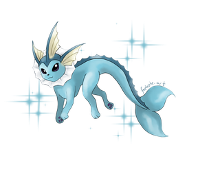 Vaporeon by faebyte-art