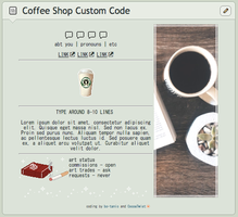 Coffee Shop Custom Box Code (Non-CORE) by cocoatwist