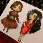 Chibi Little miss Flannel and Dangerita by CatiProjectC