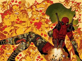 Deadpool Variant cover by Devilpig