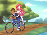 Commission: Bicycle Built for Two by Lucy-tan