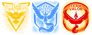Pokemon Go All Team Icons by TerraTerraCotta