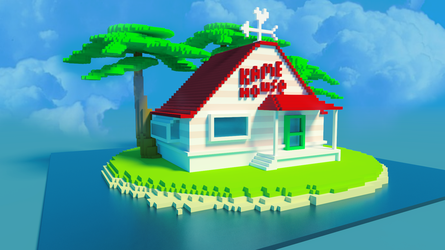 Kame House Voxel by Furui-Raion