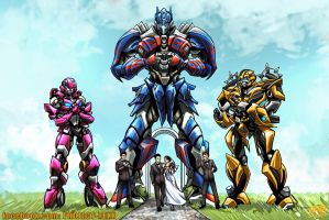 Transformers Movie-Verse Style Wedding Commission by Th4rlDEAL