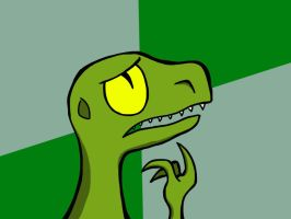 Cartoon Philosoraptor by petirep
