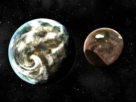 Double Planets by CGandy