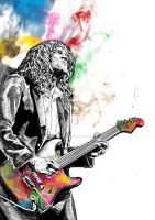 John Frusciante 'colour' by chriscleese