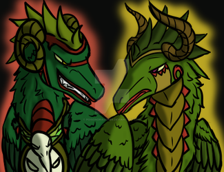 The feathered brothers by poisondragon88