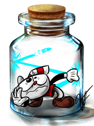 Bottle Meme ~ Cuphead by Watery-Flame