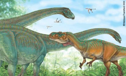 Allosaurus and Apatosaurus by mmfrankford