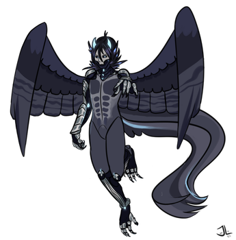 Fullbody colored sketch for Nox Winchester by 9brony