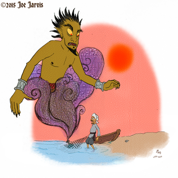 The Fisherman and the Genie by jarvworld