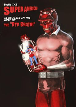 TLIID Supervillains combined Red Skull + Brainiac by Nick-Perks