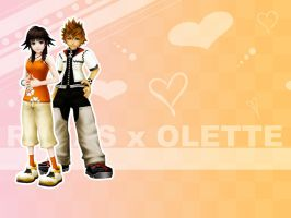 Roxas and olette by Roxas-x-olette-club