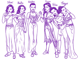 Sigyn And Her Five Sisters by DragonsLover1