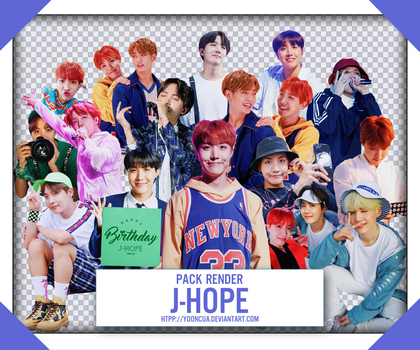 SHARE RENDER BTS JHOPE 2018 HAPPY GOLDEN HYUNG DAY by yooncua