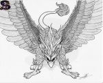 www.sammacha.com The Mighty Griffin Inked by sammacha