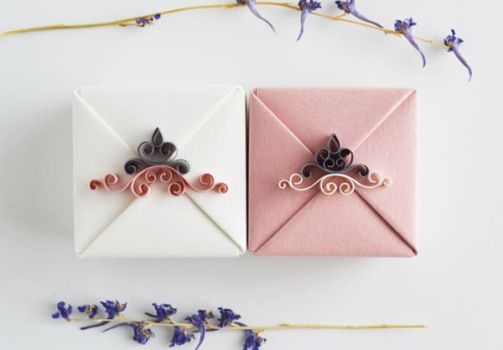 Set of Four Bridesmaids Gift Boxes by ReverseCascade