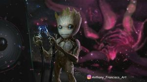guardians of the galaxy vol 2 baby groot by jersonayala27