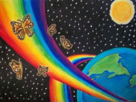 Space Rainbow by BelbaNellas