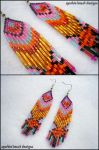 Tribal Glamour Earrings by Natalie526