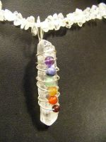 Chakra Point Necklace by BacktoEarthCreations