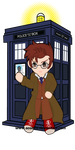 The Doctor and the TARDIS by PhantomStarStudio
