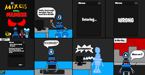 Mixels: Holiday Madness comic (page 1 and 2) by Luqmandeviantart2000