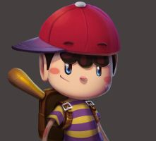 One face a day #16/365. Ness (earthbound) by Dylean