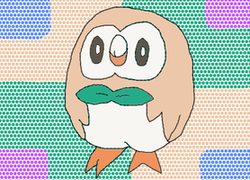 Rowlet, I chooses you!! Art by me by QuestionUnicorn