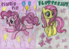 Pinkie and Flutter by MajkaShinoda626