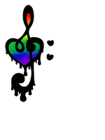 Inky Rainbow Heart by Lions-Game
