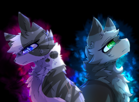 Ivypool and Dovewing by Frostedlleaf