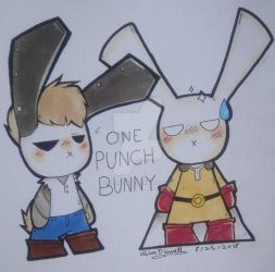 One Punch Bunny by MissDiewell