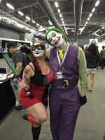 Harley Quinn and Joker by ShawnAtkinson