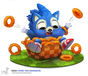 Daily Painting 1685# Sonic The Hedgehog by Cryptid-Creations