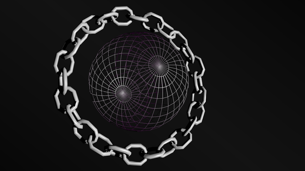 Blender Experiment: Saturn Chain 2 by RobAndersonJr