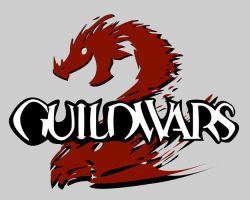Guild Wars 2 Logo Cartoon Style by Ztitus