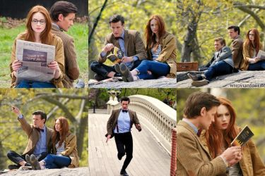 Doctor Who Series 7 Filming Central Park by WhovianForLife