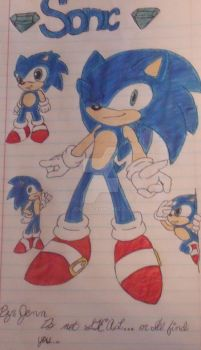 Sonic the hedgehog by JenntheVampire