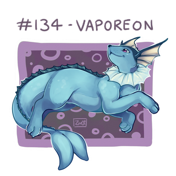 134 - Vaporeon by oddsocket