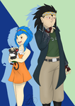 Gajeel and Levy by Un-explainable