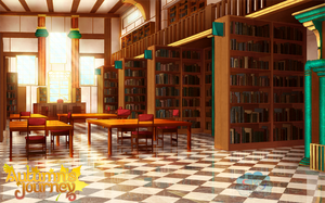 Library Background by SKY-Morishita