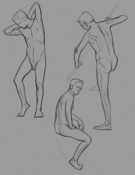 Male figure Quick pose lay in examples by FUNKYMONKEY1945