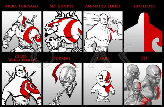 Kratos - 8 styles by ZedEdge