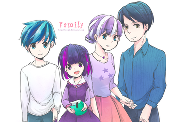 [MLP] Twilight's Family Humanization by Foxmi